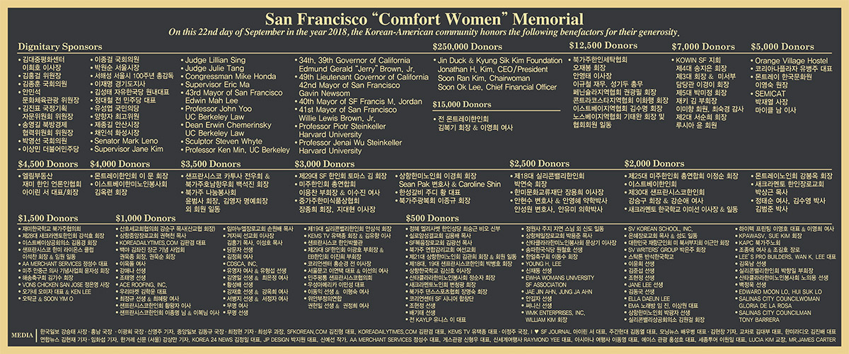 "San Francisco ""Comfort Women"" Memorial"