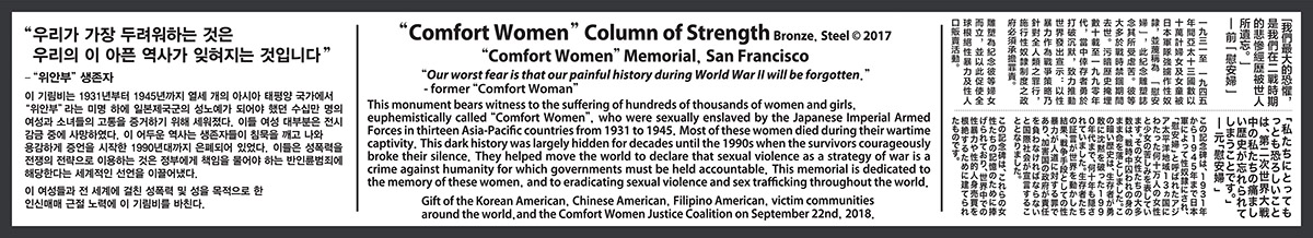 """Comfort Women"" Column of Strength"